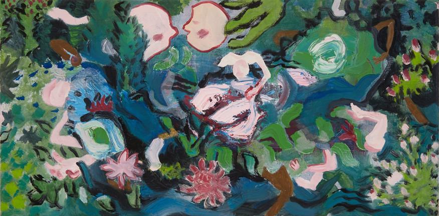 Garden night, oil on canvas, 2016