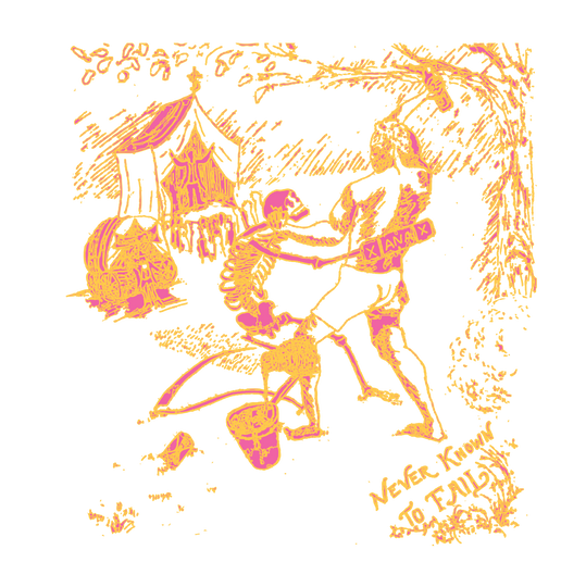 Never known to fail (orange), digitally altered drawing, 2019