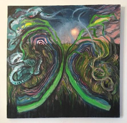 Aledo, IL, 1998, oil on canvas, 2020