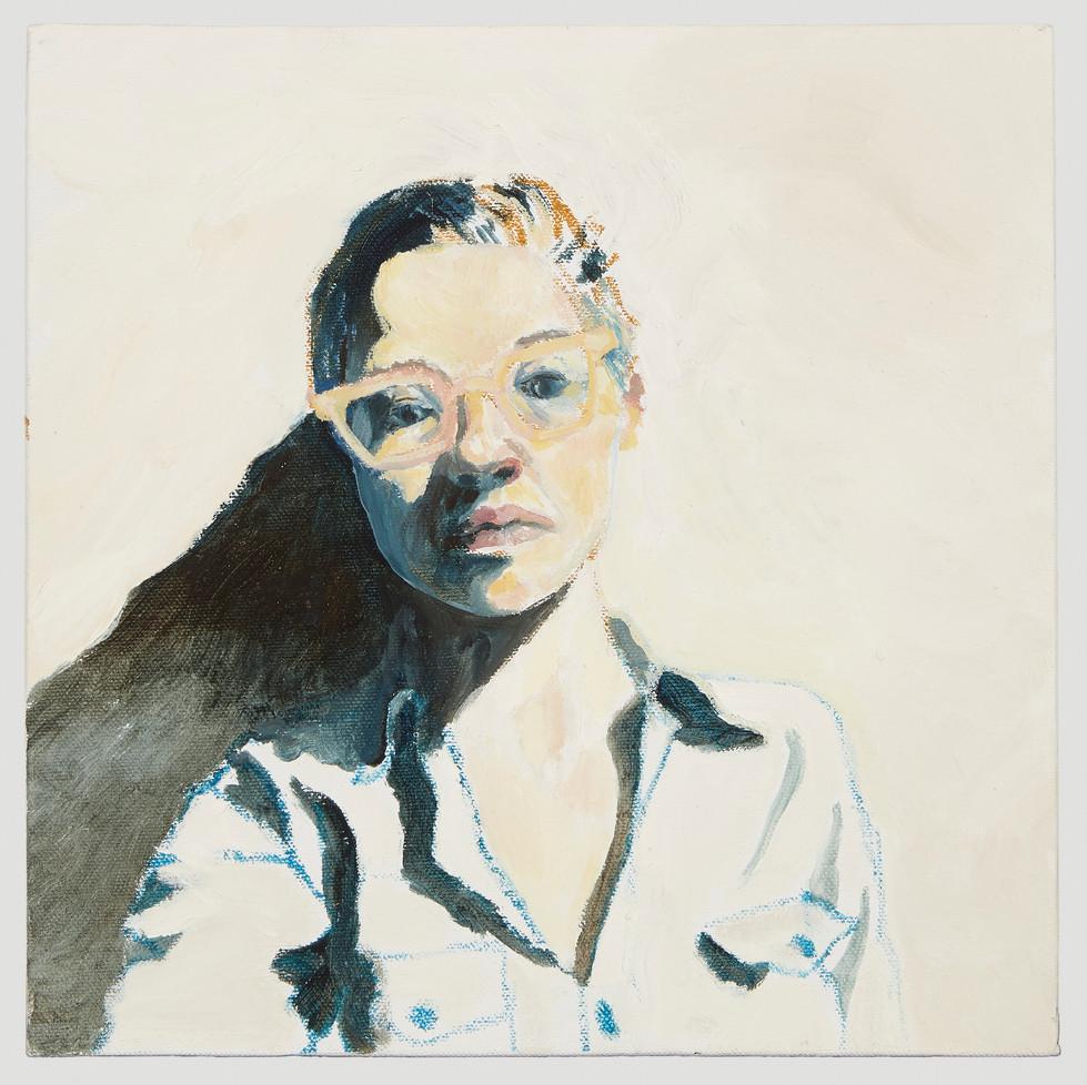 Self-portrait, 2017, oil on board