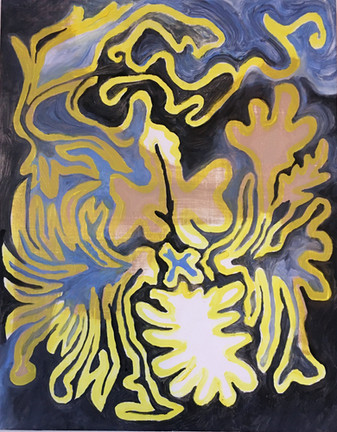 Light moth, oil on panel, 2020