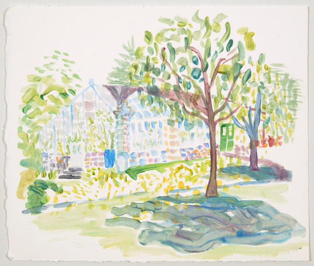 greenhouse, tempera on paper, 2020