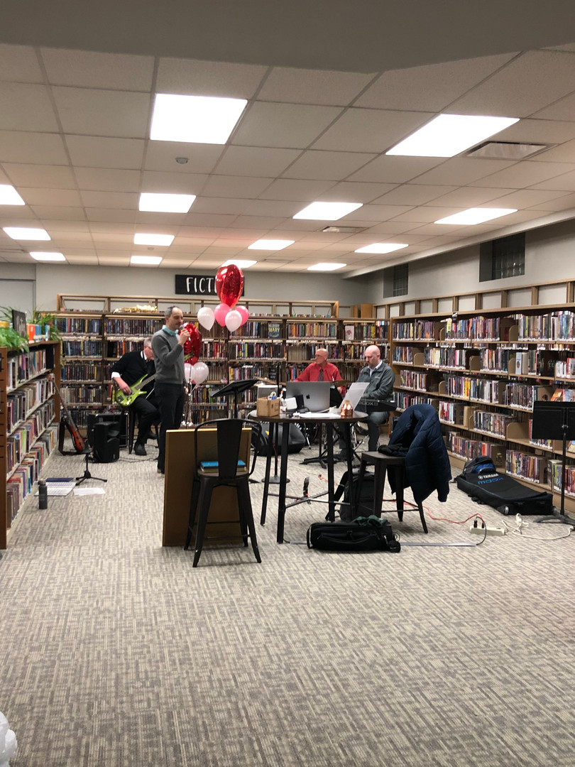 A quiet Saturday evening at the Library proved a great location for the performance.