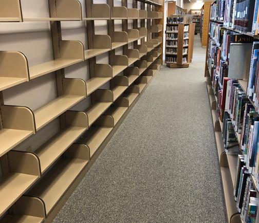 Empty shelves ready to move