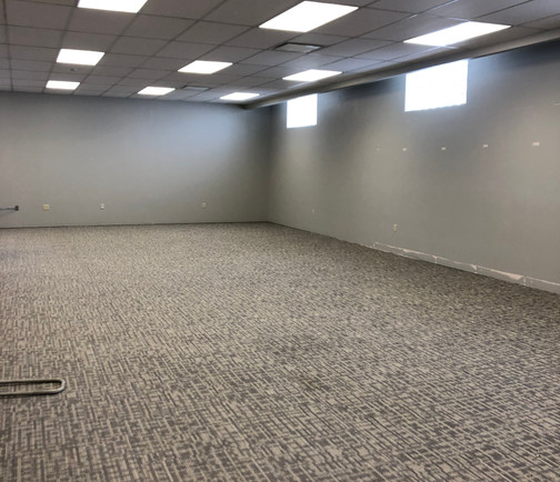New carpet and ready for shelving