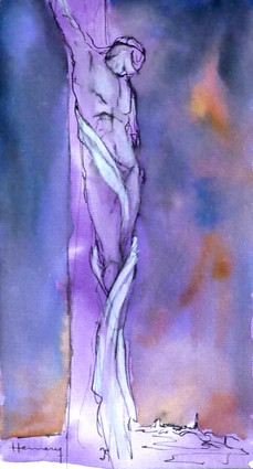 Sketch for Crucifixion II