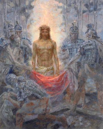 The disrobing of Christ.