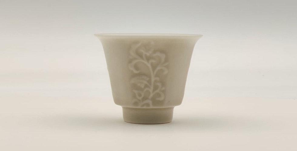 Dehua Leafy-patterned with an Ash Glaze