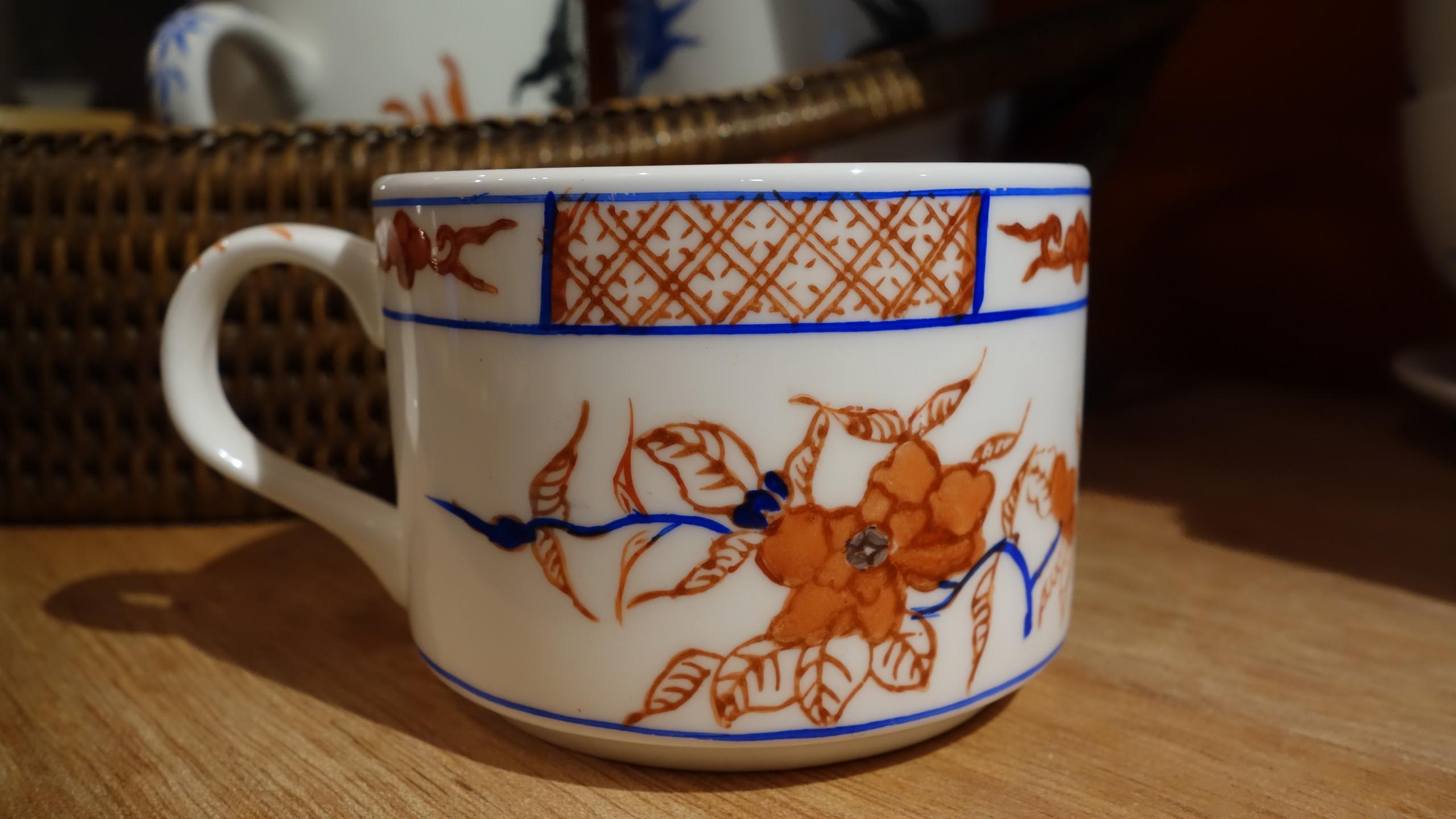 Overglazed Painted Tea Cup