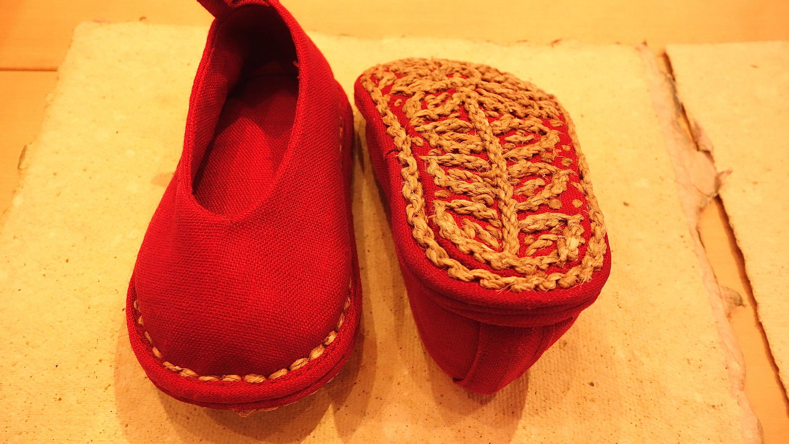Baby Kung Fu shoes with jute outsole