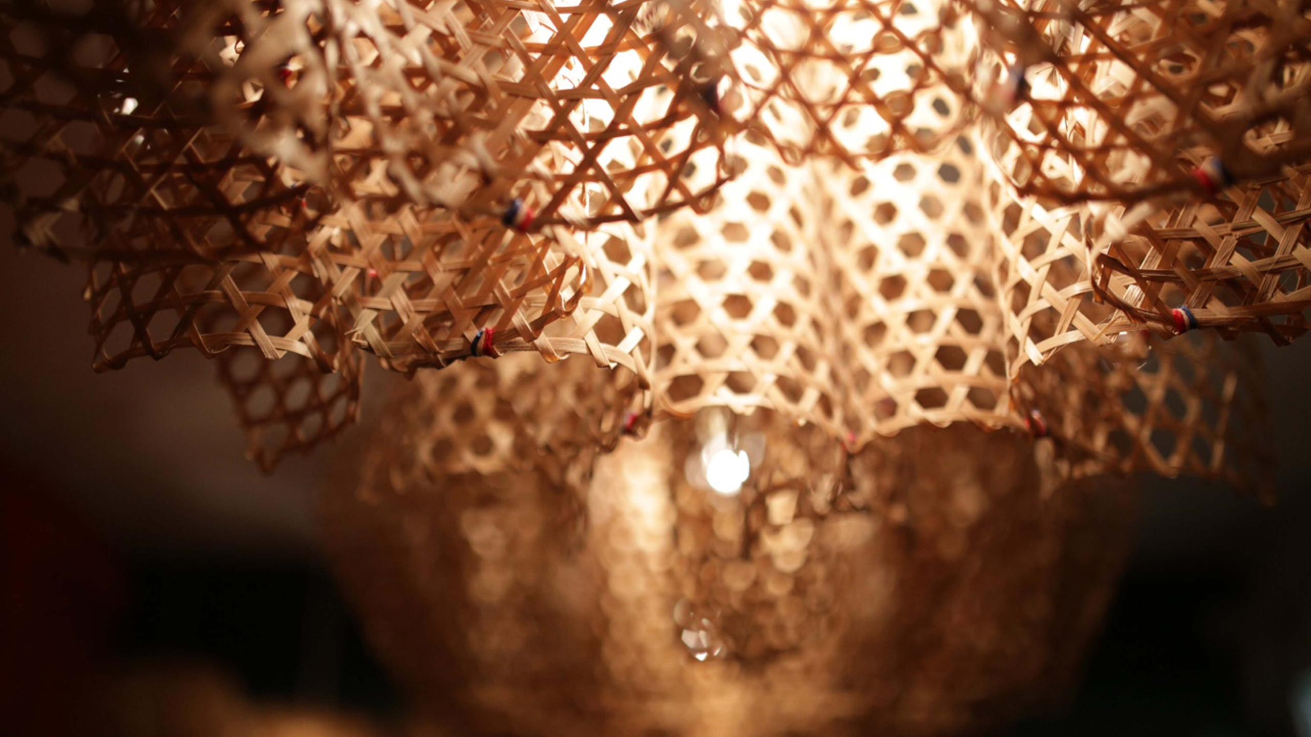 Bamboo lamp shades 竹藝燈飾