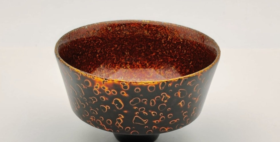 Lacquer Wooden Cup - Black colour with Gold Leaf