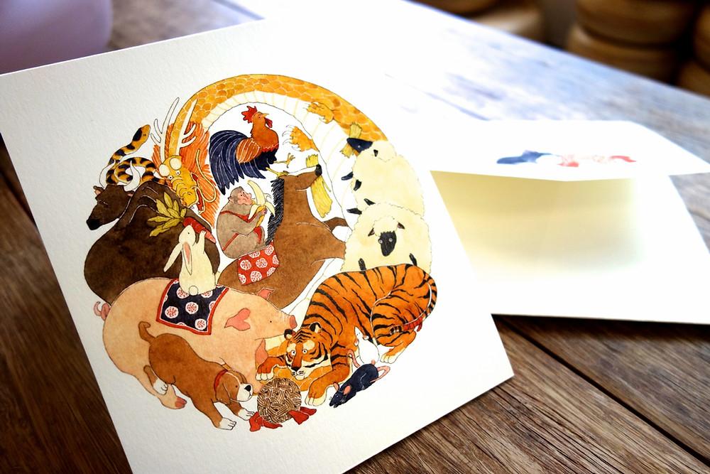 Twelve Zodiac Animal Card 十二生肖卡