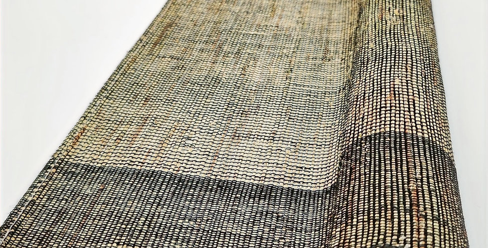 Ramie Table Runner in Brown with Black Threads