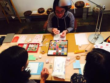 Handcarved Rubber Stamps for Red Packet Workshop 自家印利是封工作坊