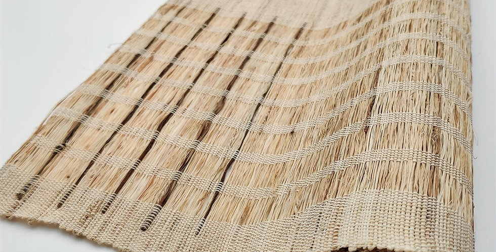 Ramie Table Runner with Brown Stripes