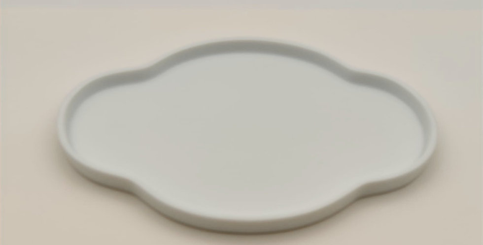 Dehua Teaware Tray, Begonia-shaped