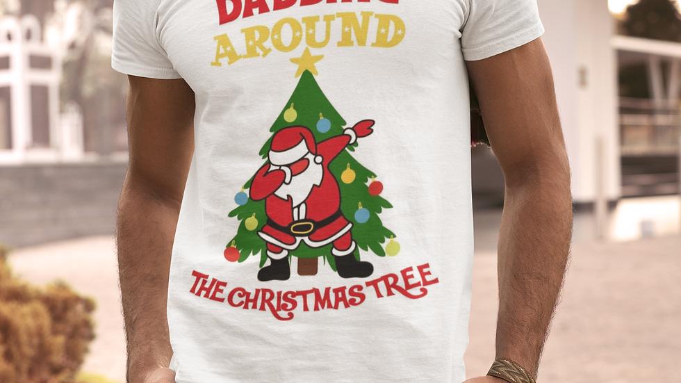 Dabbing Christmas tree t shirt
