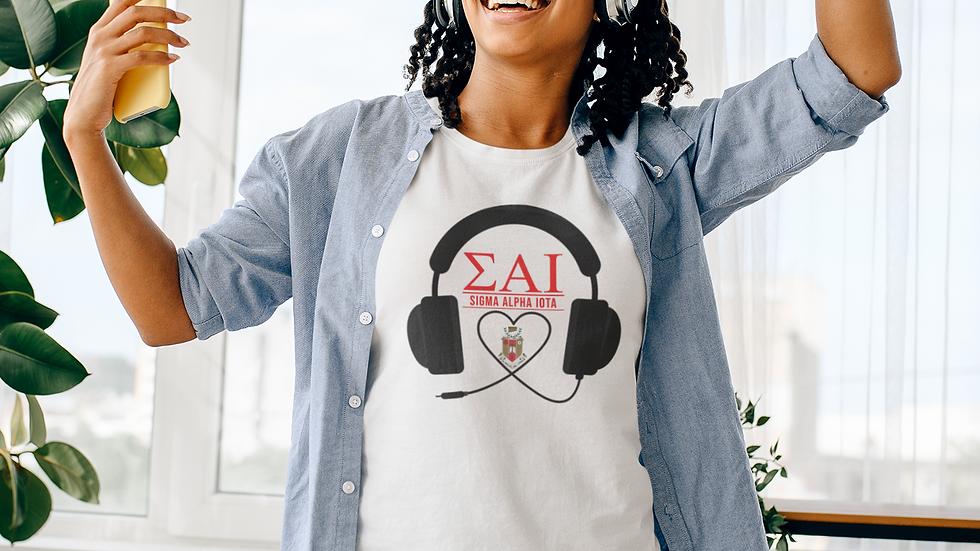 SAI Headphones t shirt- blk