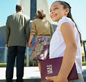 Girl Going to Church