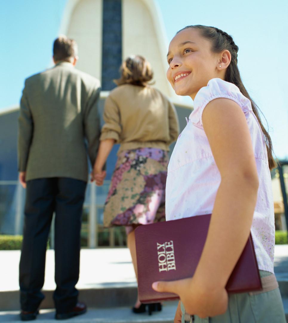 Girl Going to Church