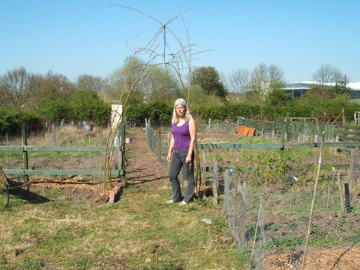 The new plot gets a willow arch.