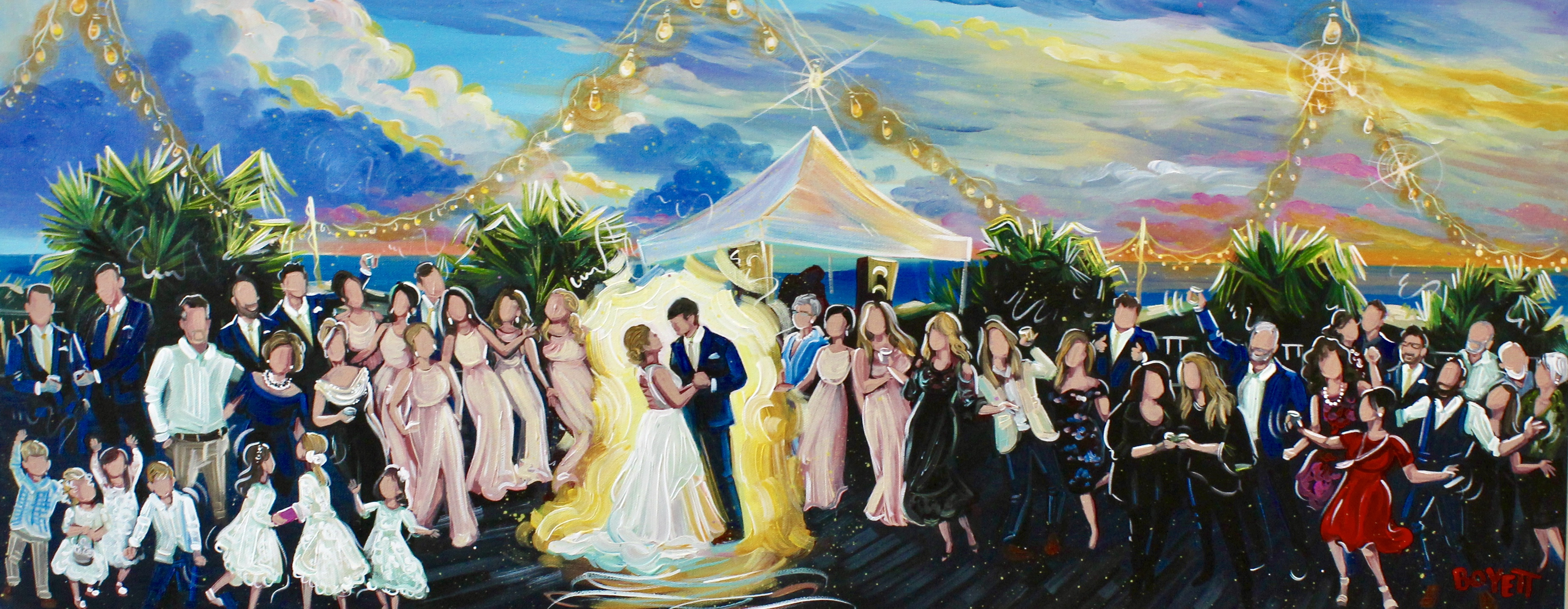 Beach Wedding Painting