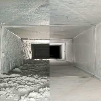 before and after vent cleaning picture
