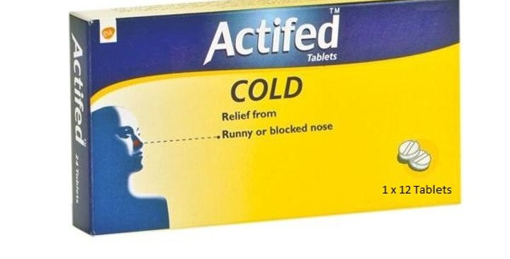 ACTIFED COLD 12 TABLETS