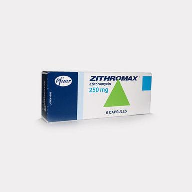 ZITHROMAX 250MG CAP 6'S