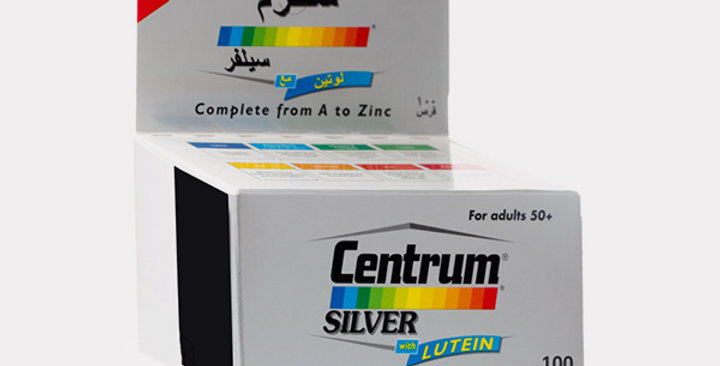 CENTRUM SILVER WITH LUTEIN TAB 100'S