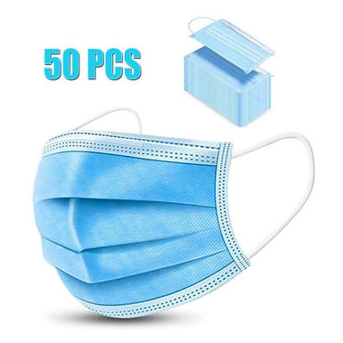 FACE MASK W EARLOOP B/G 3PLY 50'S /PACK