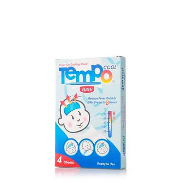 TEMPO COOL FEVER GEL INFANT SHEETS 4'S