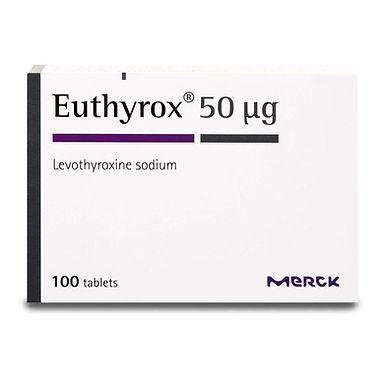 EUTHYROX 50MG 100 TABLETS