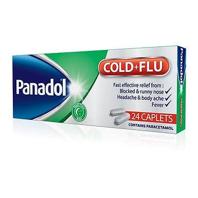 PANADOL COLD+FLU TAB GREEN 24'S