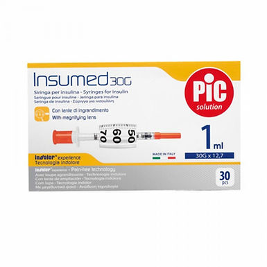 PIC INSUMED SYRINGE 1 ML G30 X 8 MM 30 PIECES