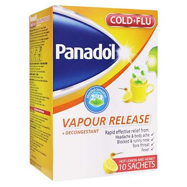 PANADOL COLD+FLU VAPOUR RELEASE SACHETS 10'S