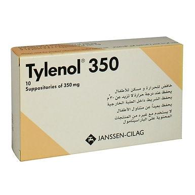 TYLENOL 350 SUPP 10'S