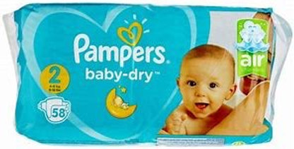 PAMPERS SIZE 2 58 PIECES