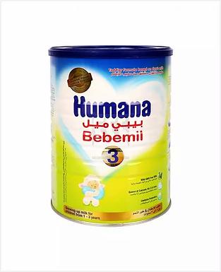 HUMANA BEBEMIL 3 GROWING UP MILK 1 3 YEARS 900GM