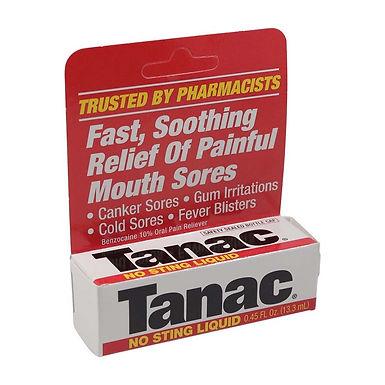 TANAC MOUTH SORES LIQUID 13.3ML