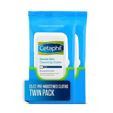 CETAPHIL GENTLE SKIN CLEANSING CLOTH 25 PIECES