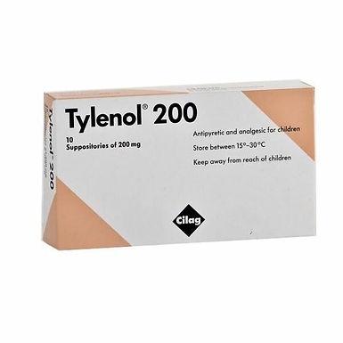 TYLENOL 200 SUPP 10'S