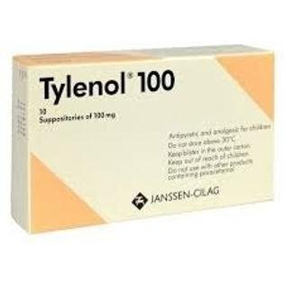 TYLENOL 100 SUPP 10'S