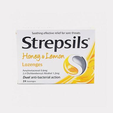 STREPSILS HONEY & LEMON LOZ 24'S