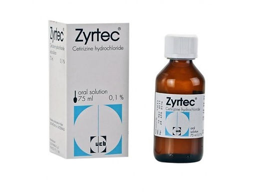 ZYRTEC 0.1% ORAL SOLN. 75ML