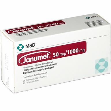 JANUMET 50MG/1000MG 56 TABLETS