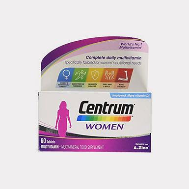 CENTRUM WOMEN MULTIVITAMINE TAB 60`S