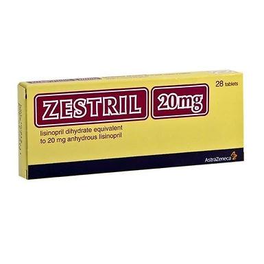 ZESTRIL 20MG 28 TABLETS