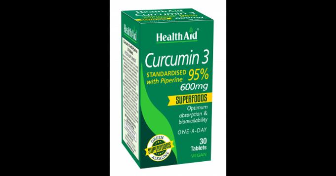 HealthAid Curcumin 3 600mg 30's Tablets